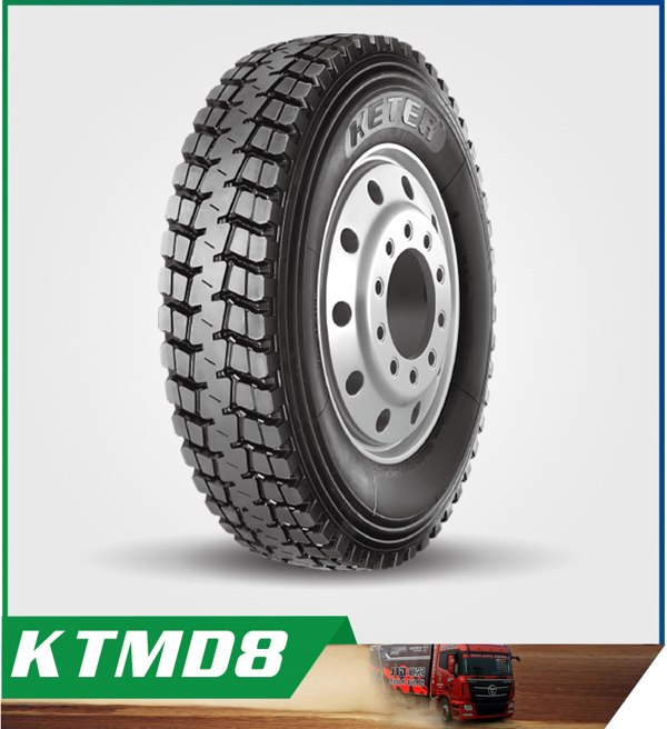 Keter Brand 10.00R20 KTMD8 with Special Belt Structure and High Impact Force Resistance